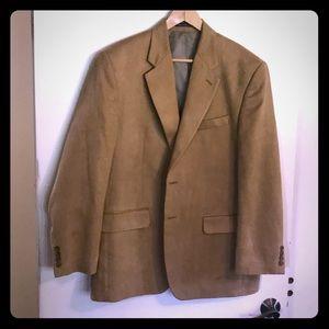 Ralph Lauren microfiber suede sport coat in tan